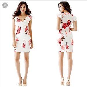 Guess flutter sleeve date dress
